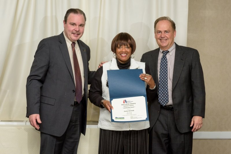 Delaware Express Award - Eunice Kennedy – Delaware State University with Gerry Frenze -Delaware Express RR