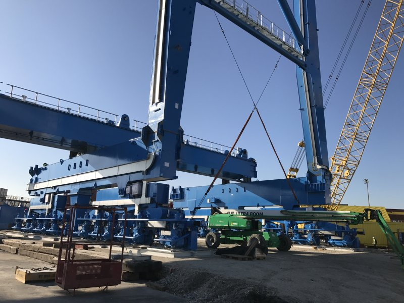 Crane assembly at Port of Wilmington. (Courtesy of the Port of Wilmington)